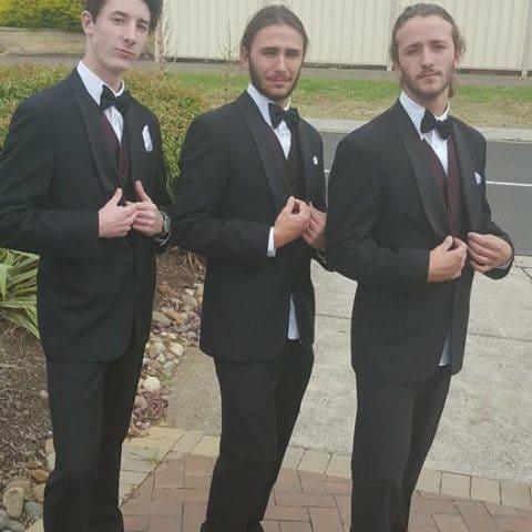 Guys ready for the debutante ball